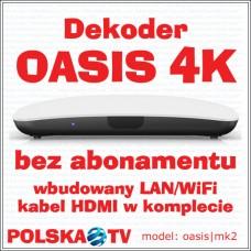 Dekoder OASIS4K - bez abonamentu